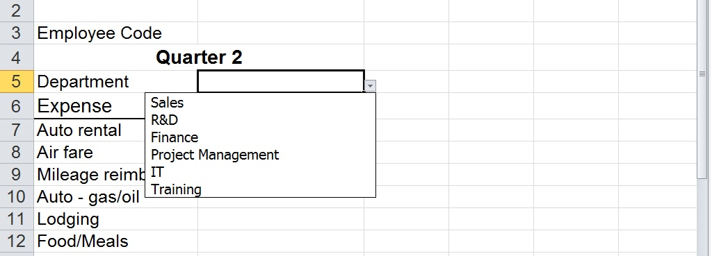Create An Excel Data Validation List Using A Table | Black